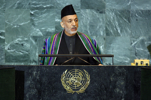 H.E. Hamid Karzai, President of Afghanistan, addresses the general debate of the sixty-third session of the General Assembly.
