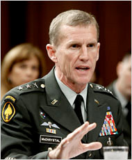 Gen. Stanley A. McChrystal, the new American commander in Afghanistan.