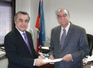 Ambassador Mérorès thanked Ambassador Tanin and expressed Haiti's thanks to Afghanistan for their generous donation.