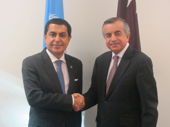 The President of the General Assembly meets with H.E. Zahir Tanin, Permanent Representative of Afghanistan, Chair of the intergovernmental negotiations on Security Council Reform.