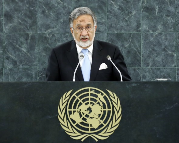 H.E. Zalmai Rassoul, Minister for Foreign Affairs of Afghanistan, addresses the general debate of the sixty-eighth session of the General Assembly.