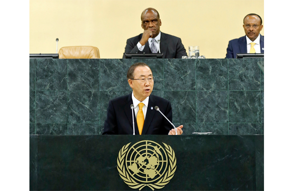 World leaders gathered in New York for the General Assembly's annual top-level debate, UN chief Ban Ki-moon urged bold action on issues ranging from crafting a post-2015 sustainability agenda to bringing parties in Syria to the negotiating table.