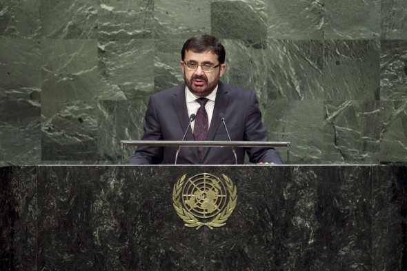 H.E. Zarar Ahmad Osmani, Minister for Foreign Affairs of Afghanistan, addresses the general debate of the sixty-ninth session of the General Assembly.