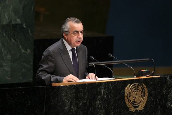 General Assembly Considers Situation in Afghanistan  H.E. Zahir Tanin, Permanent Representative of Afghanistan to the UN, addresses the General Assembly meeting on the situation in Afghanistan.