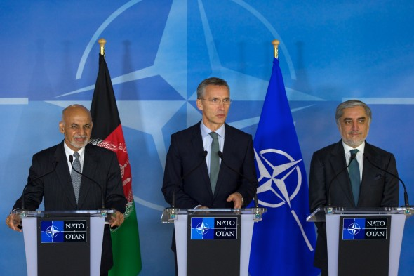 Visit to NATO by the President of the Islamic Republic of Afghanistan and the Chief Executive