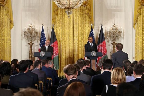 President Obama held a joint press conference with President Ghani