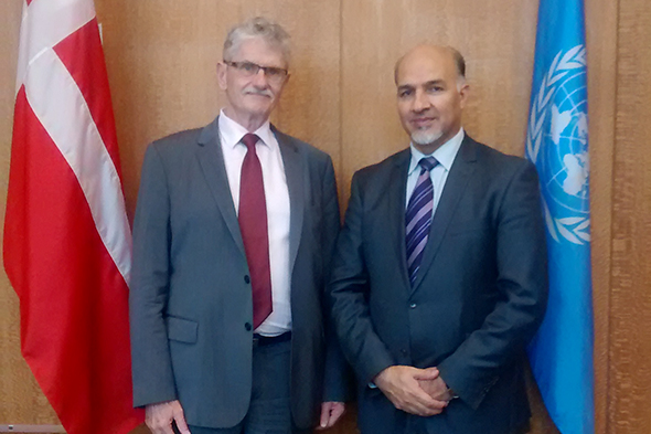 Ambassador Mahmoud Saikal met with the President of 70th UNGA, Mr. Mogens Lykketoft