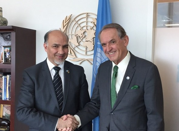 Ambassador Saikal meets with Deputy Secretary-General Jan Eliasson